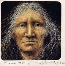 Frank Howell Seer 1982 Original Art Lithograph Hand Signed Artwork MAKE OFFER