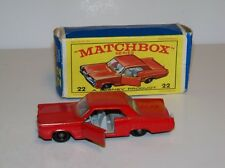 MATCHBOX #22 PONTIAC COUPE(MIB) SUPER CLEAN(BRIGHT RED)DOORS OPEN!