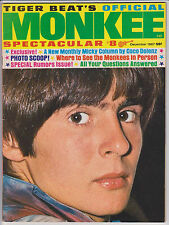 DECEMBER 1967 TIGER BEAT'S OFFICIAL MONKEE SPECTACULAR MAGAZINE NUMBER 8