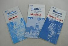 Walks Through Europe Maps Rome Madrid Barcelona AT&T Bert Lief Vintage TWA