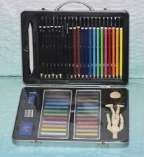 Derwent  51 piece Tin Set of Assorted Artists Colour,  Charcoal, pastels, pencil