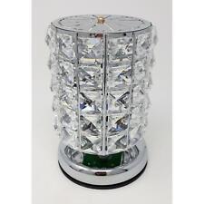 Tischlampe, Leuchte COLOURS H. 18cm D. 12cm Edelstahl + Kristallglas Formano
