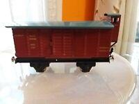 Trenino Vagone Merci 1939 Deutsche Raichshabo In Latta da collezione+ Rivista