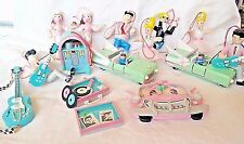 1950s Diner Christmas Ornaments Set 15 Midwest Cannon Falls Jukebox