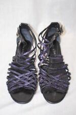 POUR LA VICTOIRE Vero Cuoio Purple Leather Gladiator Sandals Womens, 11-B117