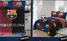 FC Barcelona 3 pcs Thick Reversible Blanket Set--Queen Size