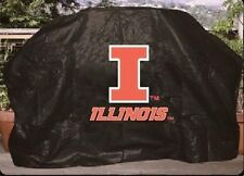 """University of Illinois 68"""" Barbecue BBQ Barbeque Heavy Duty Gas Grill Cover"""