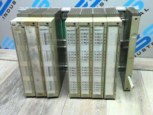 SIEMENS SIMATIC S5 SUBRACK ER1 6ES5 701 1LA12 WITH INPUT & OUTPUT MODULES