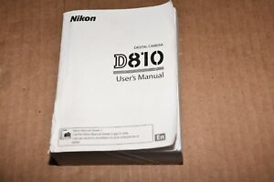Nikon D810 Digital Camera User's Instruction Manual - original