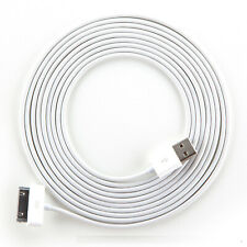 10ft White Data Sync Charging cable for iPhone 3 3g 3gs 4 4g 4s iPod touch