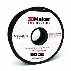 Nylon-6 Pro Series 3D Printer Filament - 3DMaker Engineering