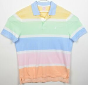 Brooks Brothers Men's XL Original Fit Multi-Color Striped Pastel Polo Shirt