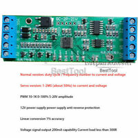 PWM to current / voltage duty cycle 4-20ma 0-10V signal conversion board