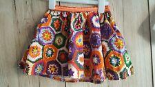 Anne Kurris Girls photo realistic crochet print 100% cotton Skirt Age 6 Yrs bnwt