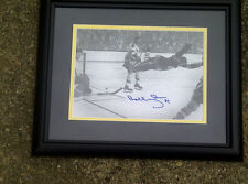 BOBBY ORR SIGNED 7X11 FRAME PHOTO FLYIN IN AIR STANLEY CUP GOAL GREAT NORTH ROAD