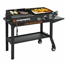 NEW Duo Griddle & Charcoal Grill Combo 1 Burner Blackstone BBQ Tailgate Party