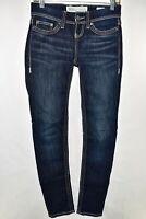 BKE Addison Skinny Slim Buckle Stretch Womens Jeans Size 24 Blue Meas. 27x30