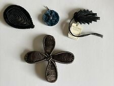 Gorgeous Vintage Lot Of Silk ~ Velvet~ Straw Millinery Hat Decorations