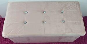 Diamante Ottoman Folding Storage box Italy plush velvet Foot stool Seat design