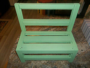 Handmade Wooden Bench for Dolls or Bears - Hand Crafted 11 inches tall