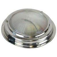 2 x Caravan LED Dome Lights 140mm Stainless Steel Interior RV Lights Switched