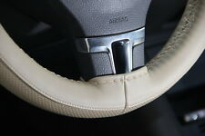 """Circle Cool 47009 Sew On Steering Wheel Cover Wrap Beige Pvc Leather 14.5""""-15"""""""