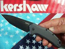 KERSHAW usa - LINK Blackwash TANTO 1776TGRYBW spring assist A/O FLIPPER knife