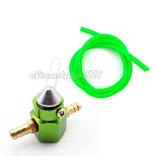 Green Inline Petcock Valve Gas Fuel Hose Tap For Dirt Bike Motorcycle ATV Quad
