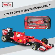 Bburago 1:24 Ferrari F1 SF15-T NO.7 Kimi Raikkonen Metal Model Car New