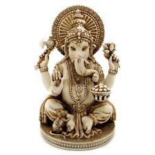 "GANESHA STATUE 6"" Hindu Elephant God Ivory Color Resin Lord of Success Ganesh"