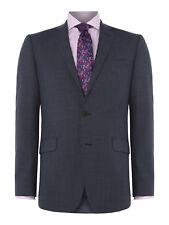 Richard James Mayfair Mens Suit Jacket 44 Regular Navy Blue Puppytooth Wool
