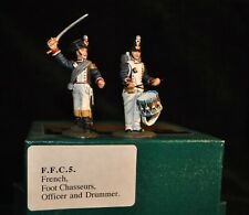FRONTLINE BRITISH FRENCH FOOT CHASSEURS OFFICER & DRUMMER FFC5