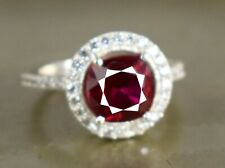 New Design 5.16 Ct Natural Burma Red Ruby 925 Silver Ring Ideal Engagement Gift