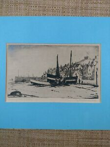 """Preston Cribb Signed Etched Print """"Tarring Nets Whilby"""" PLEASE READ."""