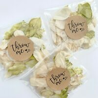 Ivory Green Petal Biodegradable Wedding Confetti Dried Real Petal Bag PACKET