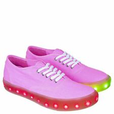 Starry Eyed Jordan-05W LED Light Lace-Up Sneakers, Neon Pink, US 11