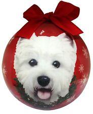 "WESTIE--Shatterproof Ball Ornament--3""-- by E & S Pets"