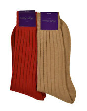 Ralph Lauren Purple Label Cashmere Ribbed Dress Socks L New $110