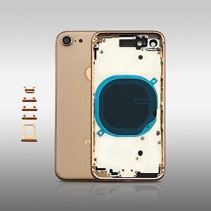 Für iPhone 8 Gehäuse Akkudeckel Backcover Housing Cover Rahmen Gold