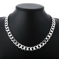 """Wholesale 4MM 925 Sterling Silver Chain Men Necklace 20"""" inch Free Shipping"""