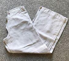 White Stuff Neutral Beige Linen Wide Leg Trousers. 12. Summer.