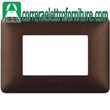 BTICINO MATIX placca 3 moduli posti marrone caffe AM4803TGG