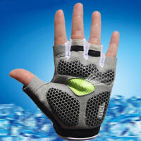 AB_ MTB Cycling Bike Silicone Gel Pad Gloves Shockproof Half Finger Short Proper
