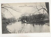Riga Stadtkanal Mit Alexanderbruecke Latvia Vintage Postcard 410b