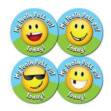 'My Tooth Fell Out Today!' 30mm Reward Stickers, 144 per pack, school, nursery