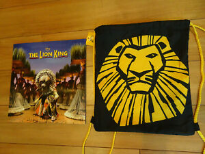 THE LION KING BROADWAY Tour SOUVENIR PROGRAM - West Palm Beach NEW MINT Bag