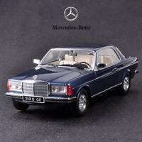 Original 1980 Mercedes-Benz 280CE W123 1:18 Collection Diecast Car Model Blue