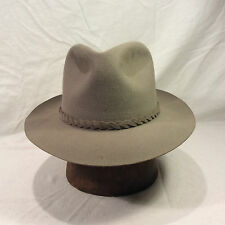 081adbf4900 Gray Borsalino Fedora Men s Hat with Gray Woven Band -- Size 7 1 8