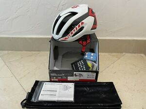 NEW SCOTT CENTRIC PLUS MIPS ROAD CYCLING HELMET WHITE RED SMALL 51-55 cm S