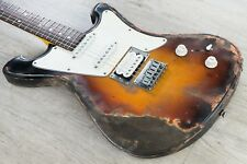Wild Custom WildMaster HSS Electric Guitar Sunburst Ultra Relic w/ Hard Case